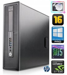 HP 600 G1 SFF i5-4570 16GB 1TB GT1030 2GB WIN10Pro hind ja info | HP 600 G1 SFF i5-4570 16GB 1TB GT1030 2GB WIN10Pro | kaup24.ee