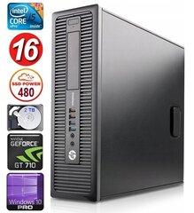HP 600 G1 SFF i5-4570 16GB 480SSD+2TB GT710 2GB WIN10Pro hind ja info | HP 600 G1 SFF i5-4570 16GB 480SSD+2TB GT710 2GB WIN10Pro | kaup24.ee
