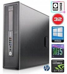 HP 600 G1 SFF i5-4570 32GB 500GB GT1030 2GB WIN10Pro hind ja info | HP 600 G1 SFF i5-4570 32GB 500GB GT1030 2GB WIN10Pro | kaup24.ee