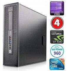 HP 600 G1 SFF i5-4570 4GB 960SSD GT1030 2GB WIN10Pro hind ja info | HP 600 G1 SFF i5-4570 4GB 960SSD GT1030 2GB WIN10Pro | kaup24.ee