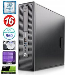 HP 600 G1 SFF i5-4570 16GB 960SSD+2TB GTX1650 4GB WIN10Pro hind ja info | HP 600 G1 SFF i5-4570 16GB 960SSD+2TB GTX1650 4GB WIN10Pro | kaup24.ee