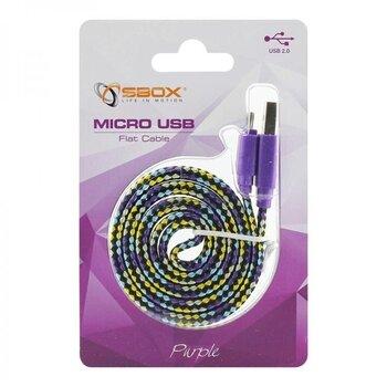 Sbox USB-103CF-U, USB->Micro USB 2.0 M/M, 1m hind ja info | Mobiiltelefonide kaablid | kaup24.ee