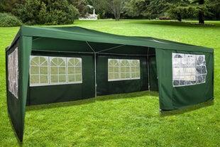 5 seinaga aiapaviljon NORE Grand Luxury, 600x300 cm, roheline hind ja info | 5 seinaga aiapaviljon NORE Grand Luxury, 600x300 cm, roheline | kaup24.ee