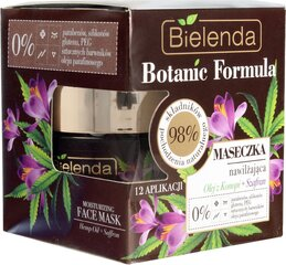 Niisutav näomask kanepiõli ja safraniga Bielenda Botanic Formula 50 ml hind ja info | Näomaskid, silmamaskid | kaup24.ee