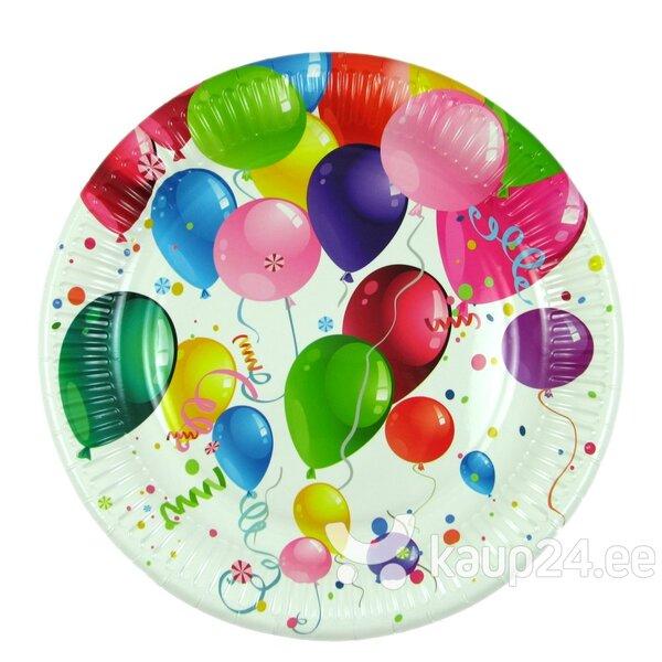 Pabertaldrikud, õhupallid, 22,7 cm, 8 tk. цена и информация | Peolaua kaunistused, dekoratsioonid | kaup24.ee