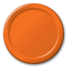 Тарелки, оранжевые 8 шт./22 см