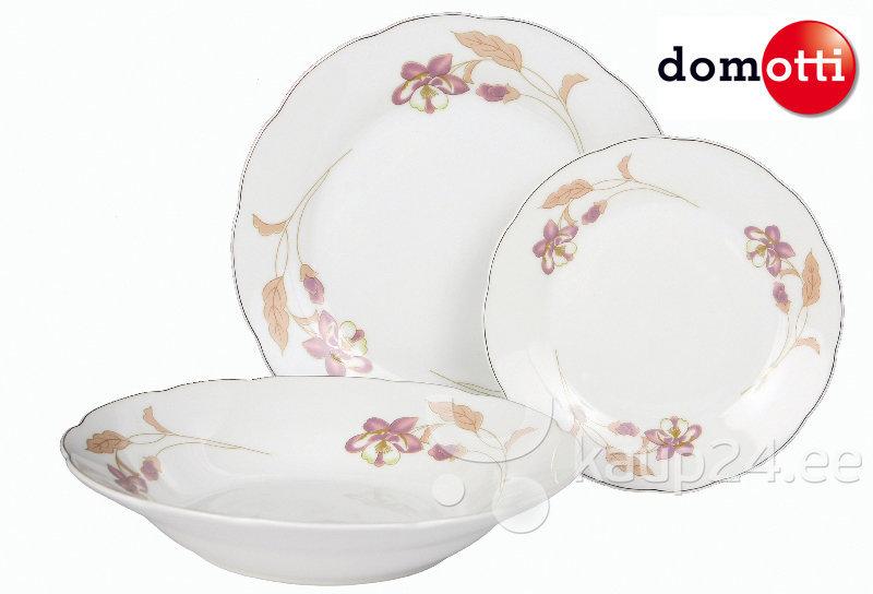 Õhtusööginõude komplekt Domotti Orchid, 18-osaline цена и информация | Lauanõud ja kööginõud | kaup24.ee