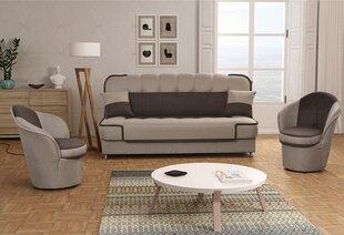 Pehme mööblikomplekt Patryk 3+1+1, pruun hind ja info | Pehme mööbli komplektid  | kaup24.ee