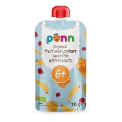 Orgaaniline puuviljade ja jogurtipüree küpsistega PONN, 100 g (6 kuud) hind ja info | Laste- ja beebitoidud | kaup24.ee