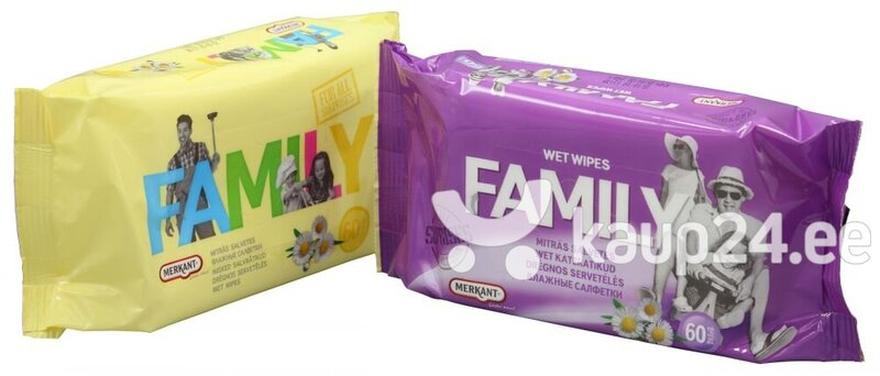 Niisked salvrätikud - For all family 60 tk - Wet Wipes