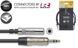 Stagg REAN 3.5mm TRS - 3.5mm TRS/f, 1m hind ja info | Juhtmed, adapterid | kaup24.ee