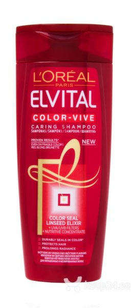 Šampoon värvitud juustele 250 ml L'Oreal Paris Elvital Color-Vive цена и информация | Šampoonid | kaup24.ee