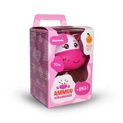 Meravita AMMUU vitamiinid+oomega-3 lastele, roosa N70 hind ja info | Vitamiinid ja mineraalid tervise parandamiseks | kaup24.ee