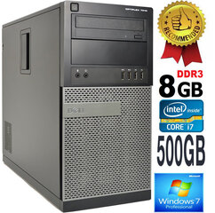DELL Optiplex 7010 Core i7-3770 8GB 500GB HDD DVDRW Windows 7 Professional hind ja info | Lauaarvutid | kaup24.ee