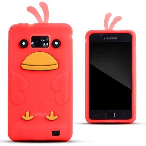 Kaitseümbris Zooky sobib Samsung Galaxy S2 I9100, I9105, 3D kana, punane цена и информация | Mobiili ümbrised, kaaned | kaup24.ee