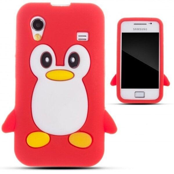 Kaitseümbris Zooky sobib Samsung Galaxy Ace S5830, 3D pingviin, punane hind ja info | Mobiili ümbrised, kaaned | kaup24.ee