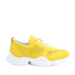 Naiste kollast värvi vabaajajalatsid LORENZO hind ja info | Naiste kollast värvi vabaajajalatsid LORENZO | kaup24.ee