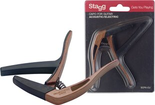 Kapodaster Stagg SCPX-CU DKWOOD hind ja info | Kapodaster Stagg SCPX-CU DKWOOD | kaup24.ee