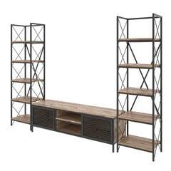 Sektsioon Kalune Design Maxim, pruun/must hind ja info | Sektsioonid | kaup24.ee