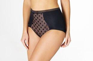 Kõrged püksikud EuroBra, must hind ja info | Naiste aluspüksid | kaup24.ee