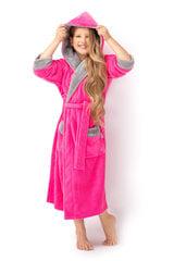 Tüdrukute hommikumantel ENVIE Delfino (Hall, fuksia) hind ja info | Tüdrukute hommikumantlid ja pidžaamad | kaup24.ee