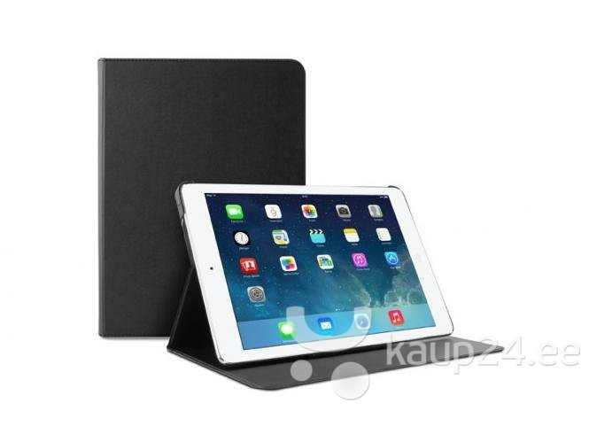 Kaitseümbris Puro BOOKLET SLIM iPad Air 2-le, must цена и информация | Tahvelarvuti kaaned ja kotid | kaup24.ee