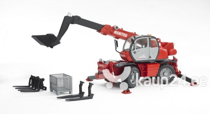 Телескопический погрузчик с аксессуарами BRUDER MRT 2150, 2129 цена и информация | Poiste mänguasjad | kaup24.ee