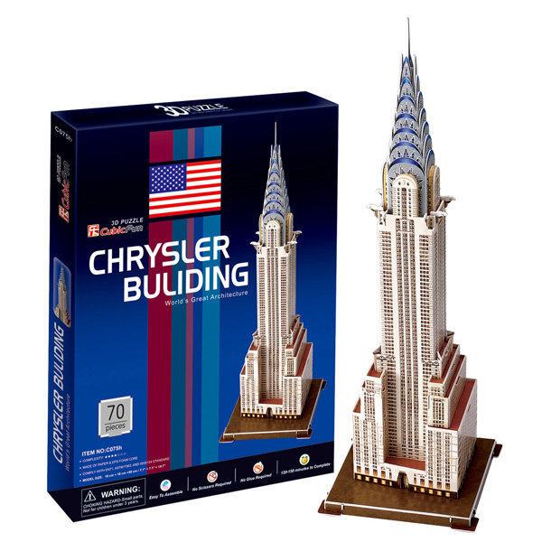 3D Пазл CubicFun Chrysler Building, 70 деталей цена и информация | Puzzle, mõistatused | kaup24.ee