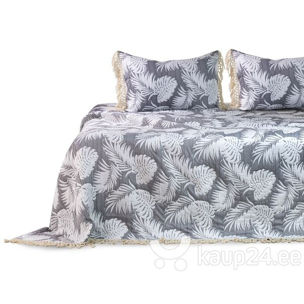 DecoKing voodikate Tropical Leaves 220x240 cm hind