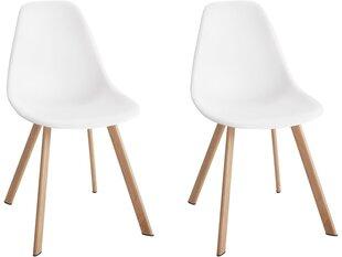 2 tooli komplekt Notio Living Varys, plastik, valge hind ja info | Söögilaua toolid, köögitoolid | kaup24.ee