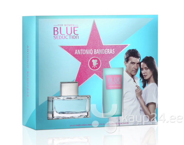 Комплект Antonio Banderas Blue Seduction: EDT для женщин 50 ml + лосьон для тела 100 ml цена и информация | Naiste lõhnad | kaup24.ee