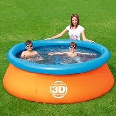 Sammasbassein lastele Bestway Splash & Play 3D, 213x66 cm, oranž/sinine цена и информация | Игрушки (пляж, вода, песок) | kaup24.ee