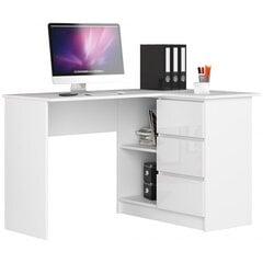 Kirjutuslaud NORE CLP, parempoolne, valge läikiv hind ja info | Arvutilauad, kirjutuslauad | kaup24.ee