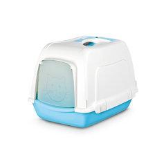 Pet Inn WC- maja SPACE CAT Sweet line, valge - helesinine hind ja info | Liivakastid kassidele | kaup24.ee