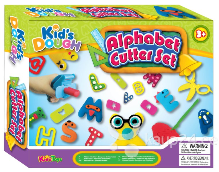 Комплект пластилина Алфавит Kids Dough цена и информация | Arendavad mänguasjad 3+ | kaup24.ee