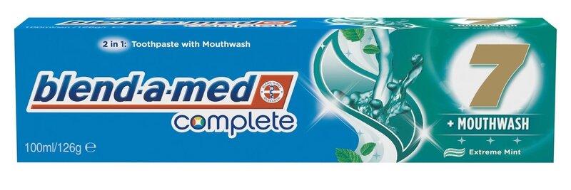 Hambapasta, Blend A Med Complete 7 Mouthwash Extreme Mint 100 ml hind ja info | Suuhügieen | kaup24.ee