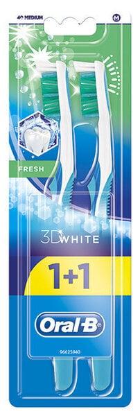 Hambaharjad Oral-B 3D White Fresh 40 Medium 2 tk