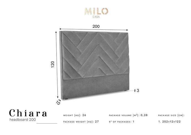 Voodipeats Milo Casa Chiara 200 cm, kreem soodsam
