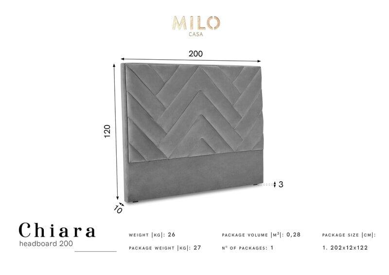 Voodipeats Milo Casa Chiara 200cm, hall soodsam