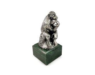 Hõbedane figuur Kurb ahv 19RO0000014 hind ja info | Ärikingitused | kaup24.ee