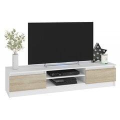 TV laud NORE CLP 160, valge/tamm hind ja info | TV alused | kaup24.ee