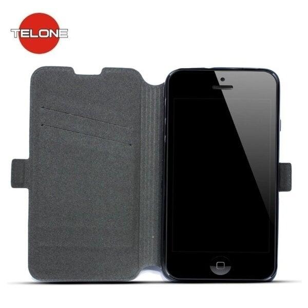Telone Супер тонкий Чехол-книжка со стендом Apple iPhone 5 5S Черный цена и информация | Mobiili ümbrised, kaaned | kaup24.ee