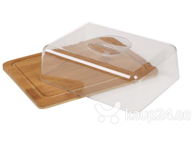 Kandiline serveerimis alus bambusest цена и информация | Lauanõud ja kööginõud | kaup24.ee