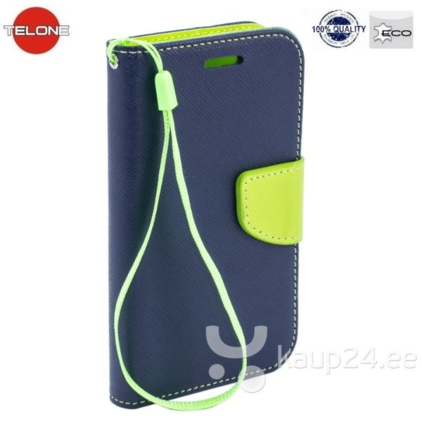 Kaitseümbris Telone Fancy Diary Bookstand Case sobib LG G4c Mini H525N, sinine/heleroheline hind ja info | Mobiili ümbrised, kaaned | kaup24.ee