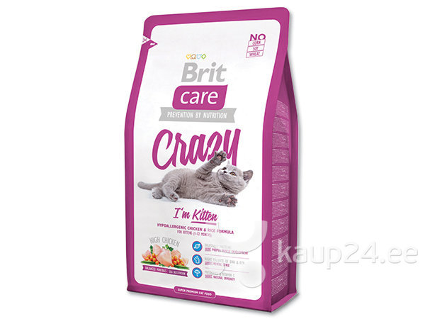 Kassitoit Brit Care Kitten Crazy 2 kg цена и информация | Kuivtoit kassidele | kaup24.ee