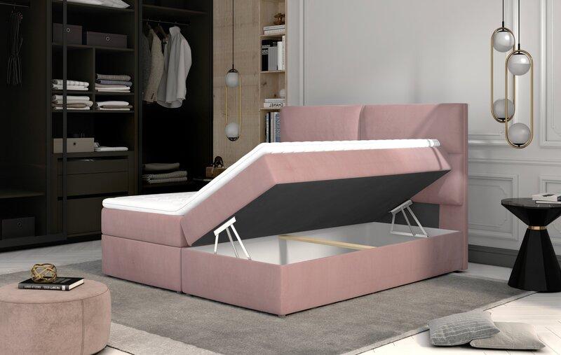Кровать NORE Amber, 180x200 см, серая интернет-магазин