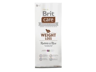 Brit Care Weight Loss Rabbit & Rice 12 kg hind ja info | Kuivtoit koertele | kaup24.ee