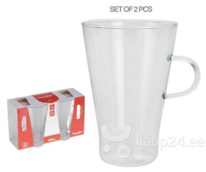 Kohvitasside komplekt, 2 tk. цена и информация | Klaasid, tassid ja kannud | kaup24.ee
