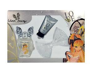 Комплект: Winx Fairy Couture Stella: EDT для девочек 100 мл + лосьон для тела 100 мл + аксессуар для волос