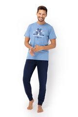 Мужская пижама с длинными штанами ENVIE Blue Long (Темно-синяя) цена и информация | Мужская пижама с длинными штанами ENVIE Blue Long (Темно-синяя) | kaup24.ee